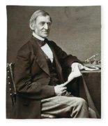 Ralph Waldo Emerson Fleece Blanket