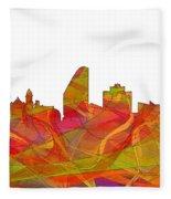 San Jose California Skyline Fleece Blanket
