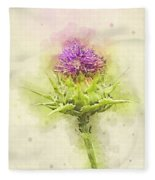 Silybum Eburneum Milk Thistle Fleece Blanket