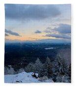 Spencer Butte Winter Summit, Eugene Oregon Feb 2018 Fleece Blanket