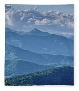 Springtime In The Blue Ridge Mountains Fleece Blanket