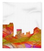 St Petersburg Florida Skyline Fleece Blanket