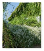 Street Scenes From Giverny France Fleece Blanket
