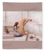 The Broken Pot Henry Ryland Fleece Blanket