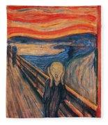 The Scream Ver 1893 Edvard Munch Fleece Blanket
