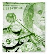 Time Is Money 16 Fleece Blanket