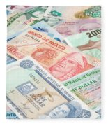 Travel Money - World Economy Fleece Blanket