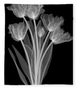 Tulips, X-ray Fleece Blanket