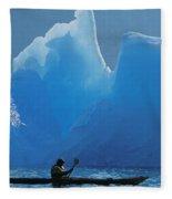 View Of Alaska Fleece Blanket
