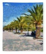 Walkway In Nafplio Town Fleece Blanket