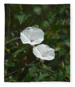 White Flower Fleece Blanket