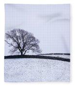 Winter In Wensleydale Fleece Blanket