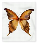7 Yellow Gorgon Butterfly Fleece Blanket