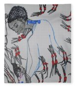 Kintu And Nambi  Folktale Fleece Blanket