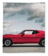 72 Mustang Fleece Blanket