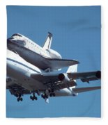 747 With Columbia At Palmdale Fleece Blanket