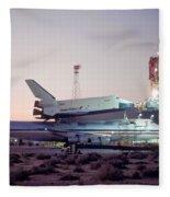 747 With Space Shuttle Enterprise Before Alt-4 Fleece Blanket