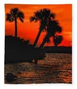 75 Island Sunset Fleece Blanket