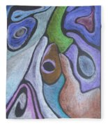 #758 Abstract Drawing Fleece Blanket