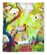 8 Abstract Japanese Maple Tree Fleece Blanket