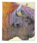 Bison Fleece Blanket