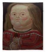 Bogota Museo Botero Fleece Blanket