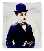 Charlie Chaplin Fleece Blanket