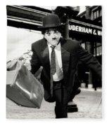 Charlie Chaplin Fleece Blanket