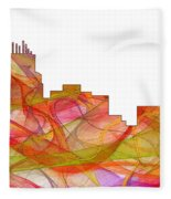 Durham North Carolina Skyline Fleece Blanket