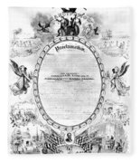 Emancipation Proclamation Fleece Blanket
