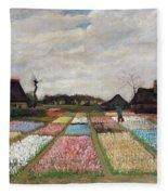 Flower Beds In Holland Fleece Blanket