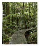 Forest Boardwalk Fleece Blanket
