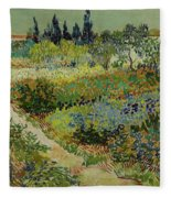 Garden At Arles Fleece Blanket