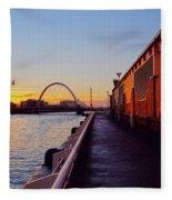 Glasgow, Scotland Fleece Blanket