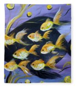 8 Gold Fish Fleece Blanket