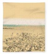 Gordon Beach, Tel Aviv, Israel Fleece Blanket