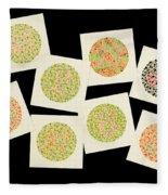 Ishihara Color Blindness Test Fleece Blanket
