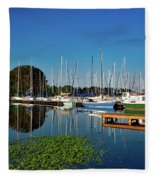 Lake Guntersville Alabama Fleece Blanket