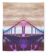 Lighthouse Reflections Fleece Blanket
