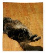 Maine Coon Cat Fleece Blanket