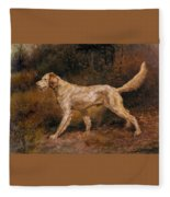 Osthaus Edmund Henry Commissioner A Champion English Setter Edmund Henry Osthaus Fleece Blanket