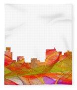 Springfield Illinois Skyline Fleece Blanket