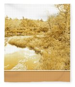 Stream In Autumn, Pocono Mountains, Pennsylvania Fleece Blanket