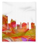 Toledo Ohio Skyline Fleece Blanket