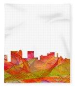 Topeka Kansas Skyline Fleece Blanket