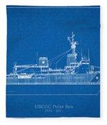 U.s. Coast Guard Cutter Polar Sea Fleece Blanket
