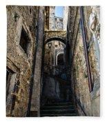 Walking Through The Streets Of Pretoro - Italy  Fleece Blanket