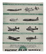 World War II Advertisement Fleece Blanket