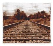 86ed On The Tracks Fleece Blanket