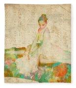 88 Keys To Her Heart Fleece Blanket